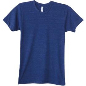 (アメリカンアパレル) American Apparel ユニセックス トライブレンド ショートスリーブトラックシャツ 半袖Tシャツ 半袖カットソー カジュアルトップス 定番 男女兼用 (S) (トライインディゴ)