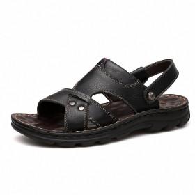 [litfox] メンズ 靴 シューズ サンダル メンズシューズ コンフォートサンダル シンプル カジュアル (EUR 42 / JP 26.0cm, ブラック)