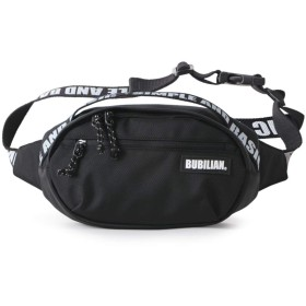 Bubilian Lettering Waist Bag バービリーないウエストポーチ貴重品ポーチ旅行便利グッズ(並行輸入品) (black)