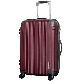 M型 バーガンディ/メッシュQueendom TSAロック搭載 スーツケース キャリーバッグ 中型 (3~5日用)