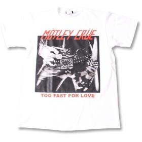 (ファーストライン)FIRST-LINE (W) モトリークルー MOTLEY CRUE 1 WHT S/S 半袖 Tシャツ メンズ レディース M ホワイト