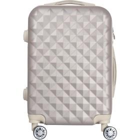 012 キルト可愛いスーツケース キャリーケース キャリーバッグ【 軽量 TSA搭載Sサイズ 1~3日 (シャンパンゴールド, m)