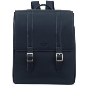 (ロトプ) LOTUFF バックパック ビジネスバッグ デイパックLO-1748 男女兼用 (Lotuff Unisex Leather Backpack) (ネイビー)
