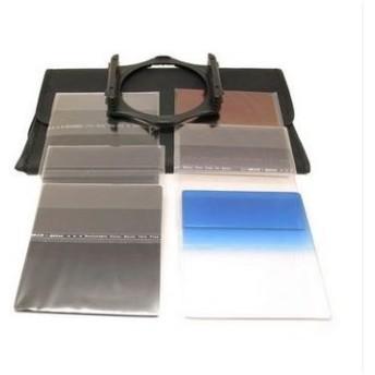 【melpe】カメラ レンズ フィルター システム セット ND2 4 8フィルター 、 グラデーション3色フィルタ、(青、橙、灰) 3枚装着ホルダ
