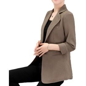 [美しいです]春秋 レディース スーツコート ジャケット テーラード ブレザー 洋服 レジャー カジュアル ファッション スプリング おしゃれ シンプル 無地 気質 優雅 オフィス 通勤 就活 面接 カーキXL