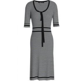マーク ジェイコブス MARC JACOBS レディース ワンピース ワンピース・ドレス Striped ribbed cotton dress Black