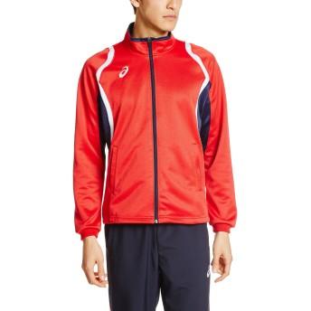 [アシックス] フィットネス ジャケット デコトレーニングジャケット XAT12D [メンズ] レッド 日本 S (日本サイズS相当)