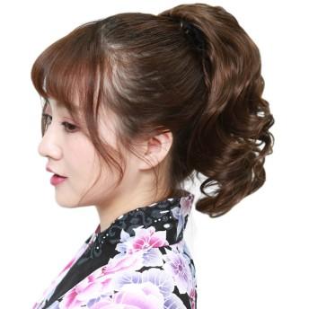 [ブライトララ] ウィッグ 和装 着物 髪飾り 浴衣 つけ髪 ヘアピース シニョン シニオン 入学式 アップスタイル cy107-M33L