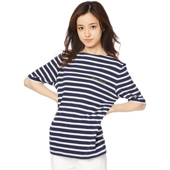 (トミー ヒルフィガー) TOMMY HILFIGER ストライプ ロゴ Tシャツ DW0DW04463 XS マルチカラー2