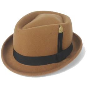 Hardy 2019 フェルト帽子 帽子 メンズ 紳士 無地 シンプル ウールキャップ (色 : カーキ, サイズ : 56-58cm)