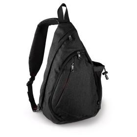[OutdoorMaster] アウトドアスポーツ ワンショルダー 胸パック 通学バッグ キャンプバッグ 旅行パック サイクリング 経典形 斜めがけ しずくパック (黒)