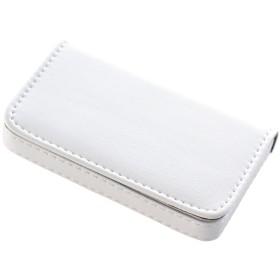 [きざむ] 名刺入れ カジュアル カードケース マグネット式 ホワイト