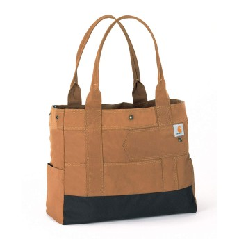 CARHARTT Women's East West Tote BRN カーハート トートバッグ ブラウン 茶色 13102102
