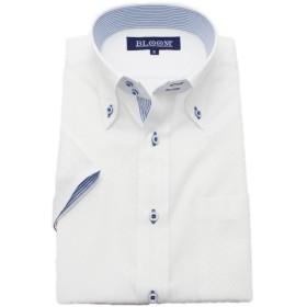 (ブルーム) BLOOM 2018夏 オリジナル 半袖 ワイシャツ クールビズ 形態安定加工 5 6L