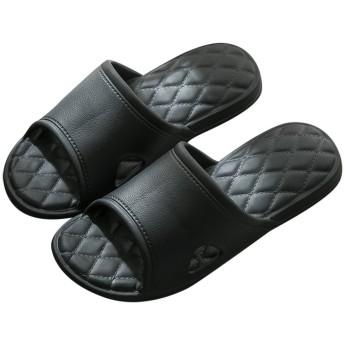 Vinvo スリッパ サンダル 超軽量 滑り止め 抗菌防臭 メンズ レディース (24~25 cm, ブラック)
