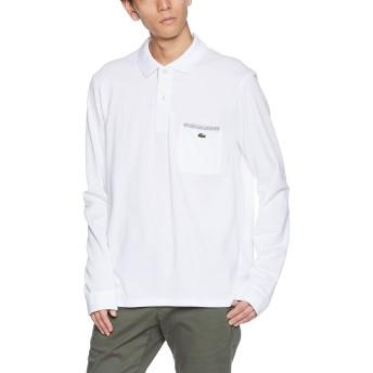 [ラコステ] ポイントストライプポロシャツ(長袖) PH0118L メンズ ホワイト EU 005 (日本サイズXL相当)
