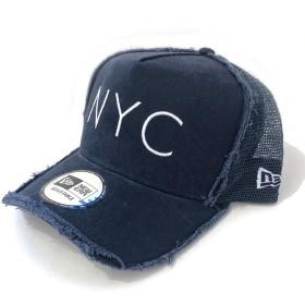 NEWERA(ニューエラ)9FORTY NYC メッシュキャップ Dフレーム トラッカー ダメージ加工(11404669)ネイビー