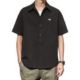 [CEEN] 半袖シャツ メンズ ワンポイント 無地 カジュアル 大きいサイズ