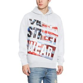 (ヴィジョンストリートウェア)vision street wear 星条旗柄BIGマグロゴパーカー 8323159 06 オフシロ M