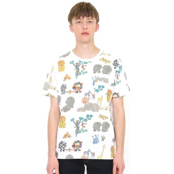 (グラニフ) graniph コラボレーション Tシャツ ロスト テディ パターン (ぞうのエルマー) (ホワイト) メンズ レディース S (g100) (g107) #おそろいコーデ (g100) (g107)
