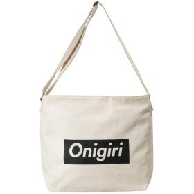 ショルダーバッグ キャンバス 大容量 軽量 斜めがけ オリジナルデザイン バッグ 【KN-001】 (ONIGIRI)