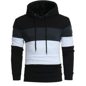 Mhomzawa ジャケット メンズ 超軽量 カジュアル 防寒 暖かい 秋 冬 コート メンズコート アウターセーターウィメンズスリムパーカーウォームフード付きスエットシャツ (ブラック, XL)