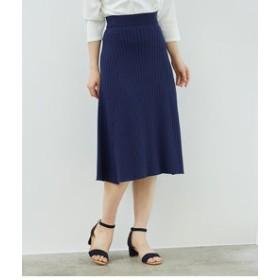 【ROPE' PICNIC:スカート】【セットアップ対応】ワイドリブフレアスカート