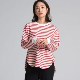 LIPSTAR(リップスター)/クウボウ無地&ボーダーロングTシャツ