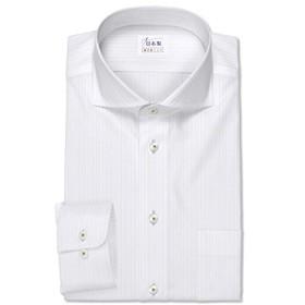 ワイシャツ 軽井沢シャツ [A10KZW212]ワイドスプレッド カッタウェイ ドビーストライプ らくらくオーダー受注生産商品