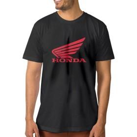 EMILYZ 成人 面白い ホンダ ウィーラー ロゴ デザイン Tシャツ 体に合う Black Size XXL
