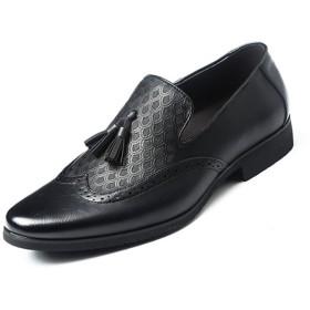 ビジネスシューズ メンズ 靴 紳士靴 PU革靴 プレーントゥ プレーントゥ ロファーシューズ メンズ 合皮 防水 撥水 加工 24.0cm 24.5cm 25.0cm 25.5cm 26.0cm 26.5cm 27.0cm「イノヤ」