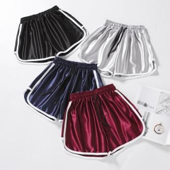 ショートパンツ レディースダンスウェア サーフパンツ 女性用パンツ ズボンショートパンツ 短パン 女性用 スポーツパンツ リラックス ピカピカ素材 夏 涼しい スポーツ用 セクシー