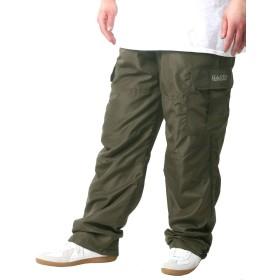 [ヘインズ] 大きいサイズ メンズ パンツ カーゴパンツ 裏側 トリコット カーキ LL