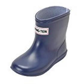 [HANGTEN] 4828 ボーイズアンドガールズ かわいいレイン 子供用長靴 ネービー 19cm