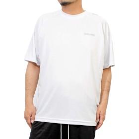 スポルディング(SPALDING) Tシャツ メンズ 大きいサイズ 半袖 無地 ドライ メッシュ 吸汗速乾 消臭 抗菌 ラグラン カットソー 4L ホワイト(09)