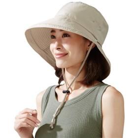 飛ばされにくいサファリ帽子 - セシール ■カラー:ベージュ