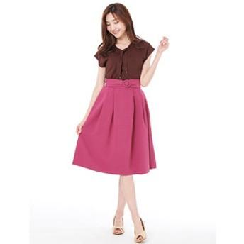 【PATTERN fiona:スカート】バックルベルト付きスカート