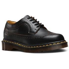 ドクターマーチン Dr. Martens vegan 5ホール ウイングチップ ヴィーガン メンズ レディース オックスフォードシューズ ローカット 厚底 短靴 大きいサイズ 黒 ブラック,UK6(25cm)