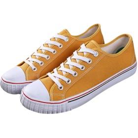 [ユニグランド] スニーカー キャンバス 帆布 靴 シューズ ユニセックス (24.5cm, イエロー)