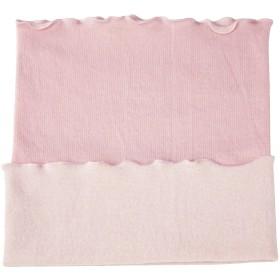内側シルク・外側コットン素材 もちまゆ シルク&コットン 腹巻 平編み地 (ピーチ)