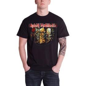 Iron Maiden アイアンメイデン Tシャツ Eddie Evolution エディー・エボリューション・バンド・ロゴ メンズ ブラック 黒 Size S