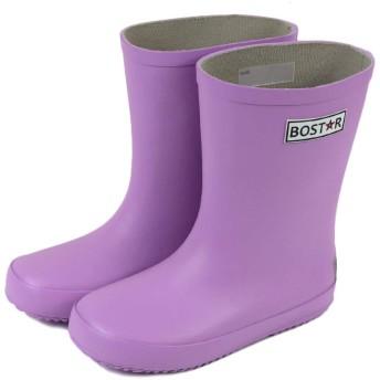 キッズ 長靴 BOST-R ボストアール 子供 男の子 女の子 レインブーツ (13cm-23cm) 17cm,ラベンダー