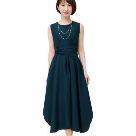 プールヴー ドレス ワンピース パーティードレス 結婚式 二次会 レディース 2643 (M, ピーコックグリーン)