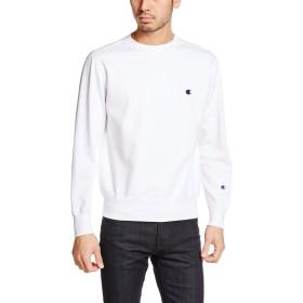 [チャンピオン] ワンポイントロゴ クルーネック スウェットシャツ ベーシック C3-C019 メンズ ホワイト 日本 XS (日本サイズXS相当)