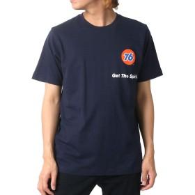 [セブンティーシックス] Tシャツ プリント 半袖 メンズ ネイビー M