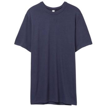 (オルタナティブ・アパレル) Alternative Apparel メンズ ビンテージ 50/50 Tシャツ 半袖 トップス 無地 カットソー (L) (ネイビー)