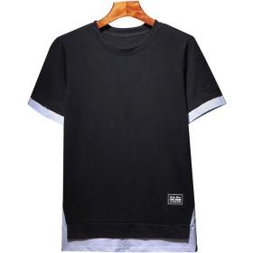 TOFULM Tシャツ メンズ (ブラック, M)