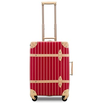 【Recess_リセス】【アウトレット】 トランクキャリー 超軽量 スーツケース ストライプ 100席未満機内持ち込み~大型 ss s m l キャリーバッグ キャリーケース (SS-約21L 100席未満機内持込OK, アップルレッド)