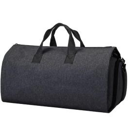 旅行バッグ 大容量ボストンバッグ トラベルバッグ 折り畳み可能 ガーメントバッグ スーツ収納 シューズ収納可能 一泊旅行/結婚式