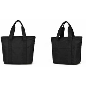 Gergeousレディース 旅行バッグ 大容量バッグ トートバッグ ナイロン 防水 軽量404214cm 手提げバッグ マザーバッグ(黒)